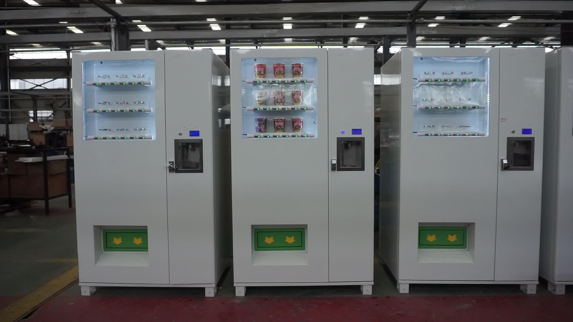 Máquina de venda automática de macarrão instantâneo Zoomgu e alimentos