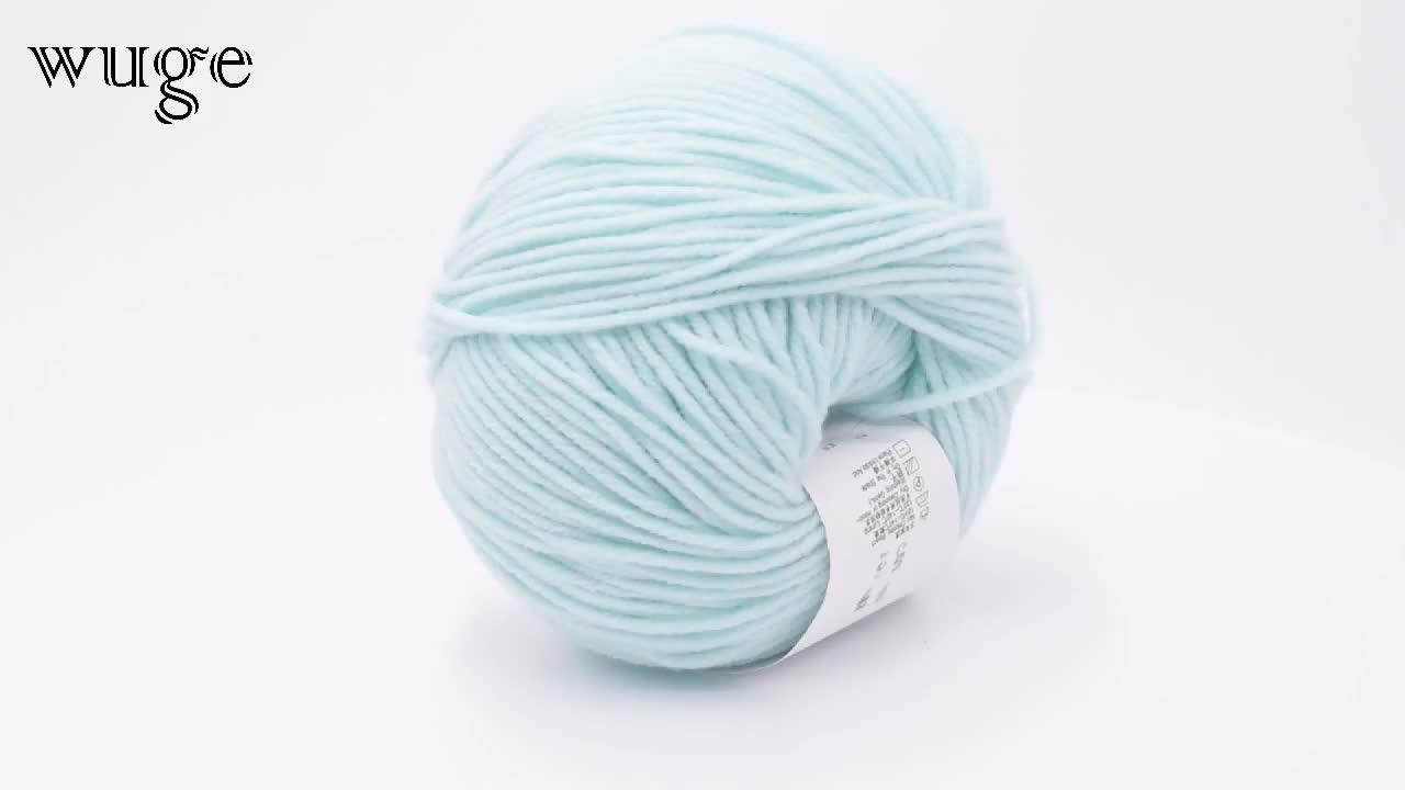 スーパーソフト 4ply 60% 綿 40% アクリル混紡糸ニットセーターと人形