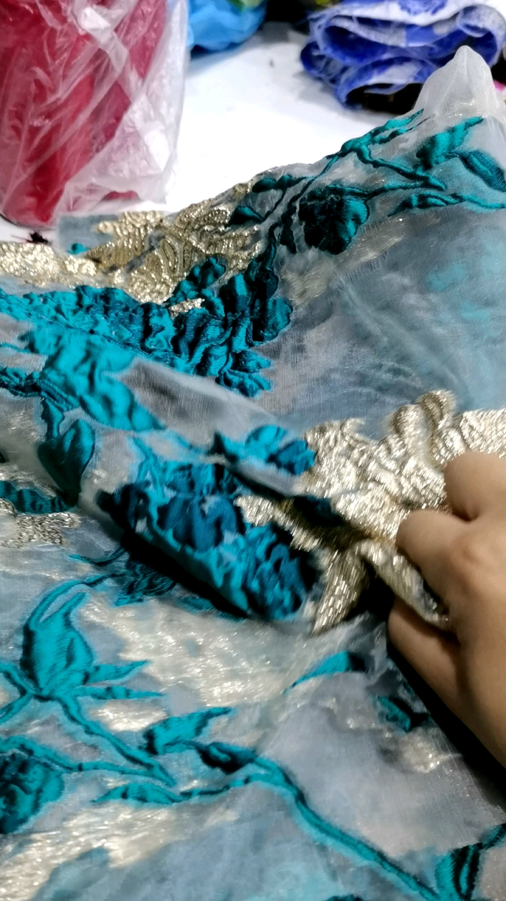 Top Quality Material Embroidered Pattern jacquard brocade design fabric