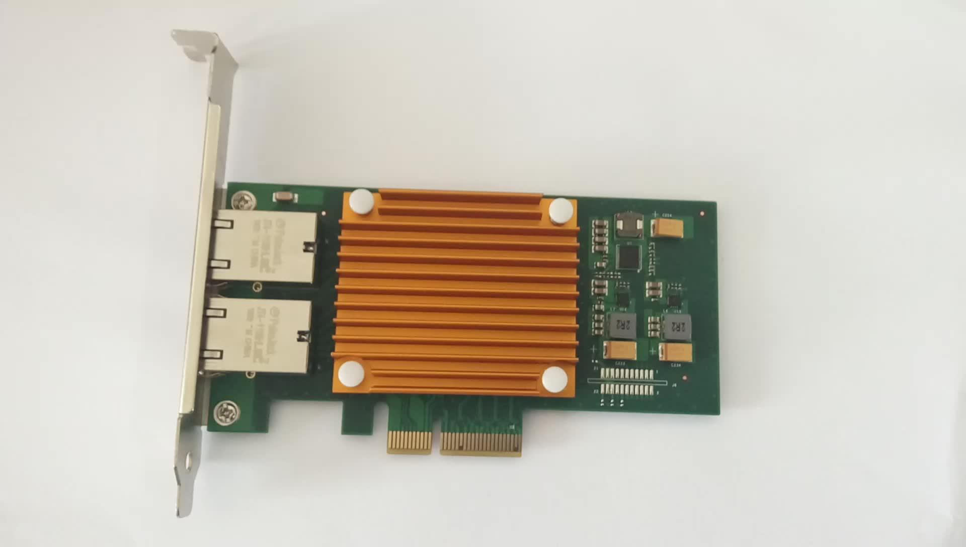 F1002T Ver3.0 Dual Port Copper 10 Gigabit Ethernet PCI Express Server Adapter Intel X550-AT2 Based