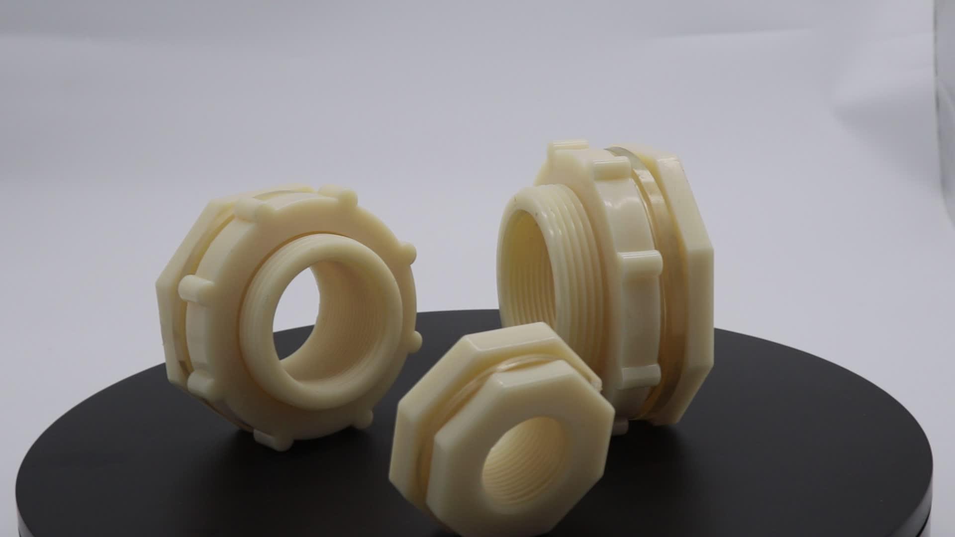 """3/4 """"DN20 25MM Plastik Kadın Erkek Dişli Bağlayıcı ABS PVC Tank Adaptörü Konteyner Bölme Parçaları Su Plastik Tank"""