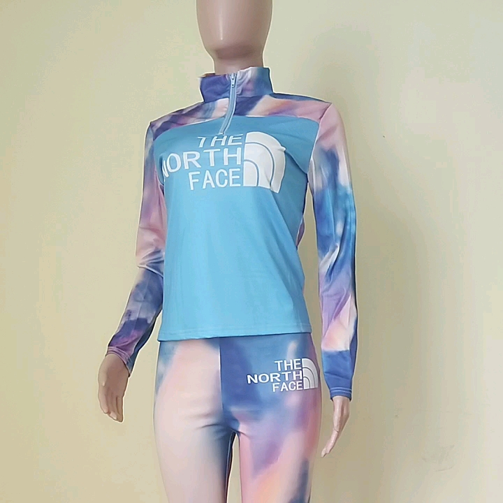 HGL1291 2021 new arrivals stylish outfit casual  tie dye letter print  womens 2 piece outfit two piece sets