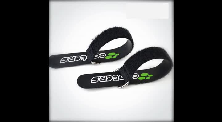 100% Nylon Anti Slip Hook and Loop Buckle band with logo