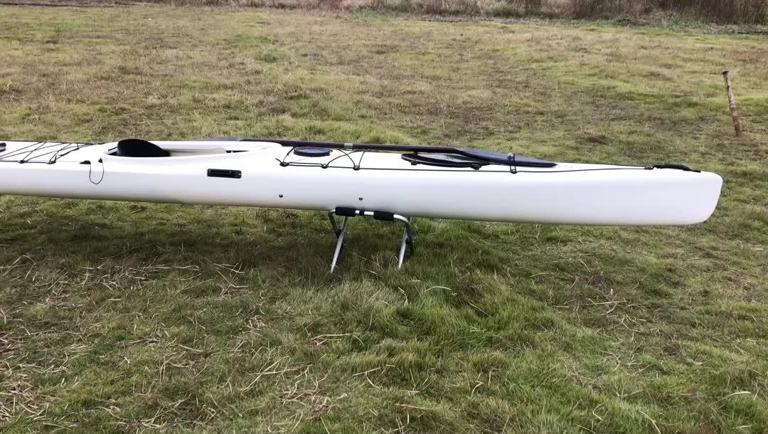 V5.0 professional single ocean kayak sit in racking sea kajak China