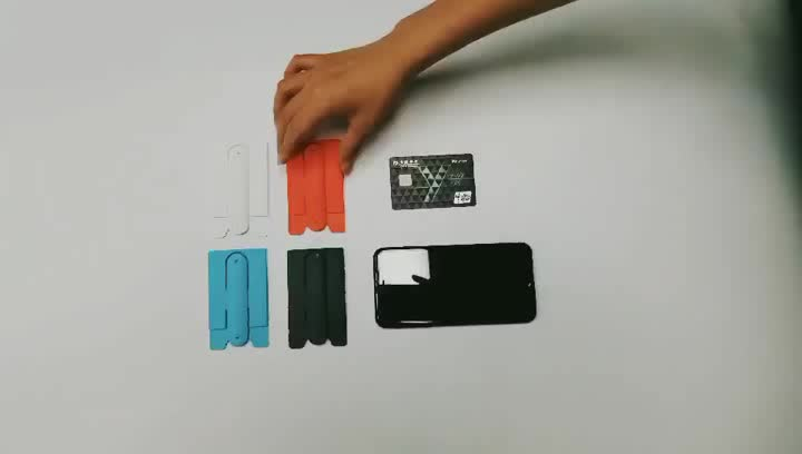 2020 New customized Silicone card holder attach to the back of smart phone