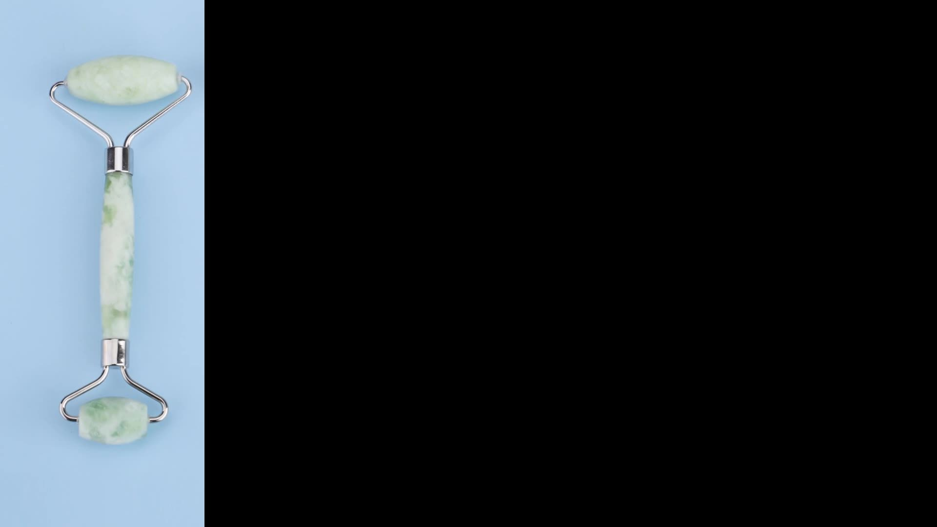 빠른 배달 녹색 비취 롤러 Gua Sha 페이셜 마사지 안티 에이징