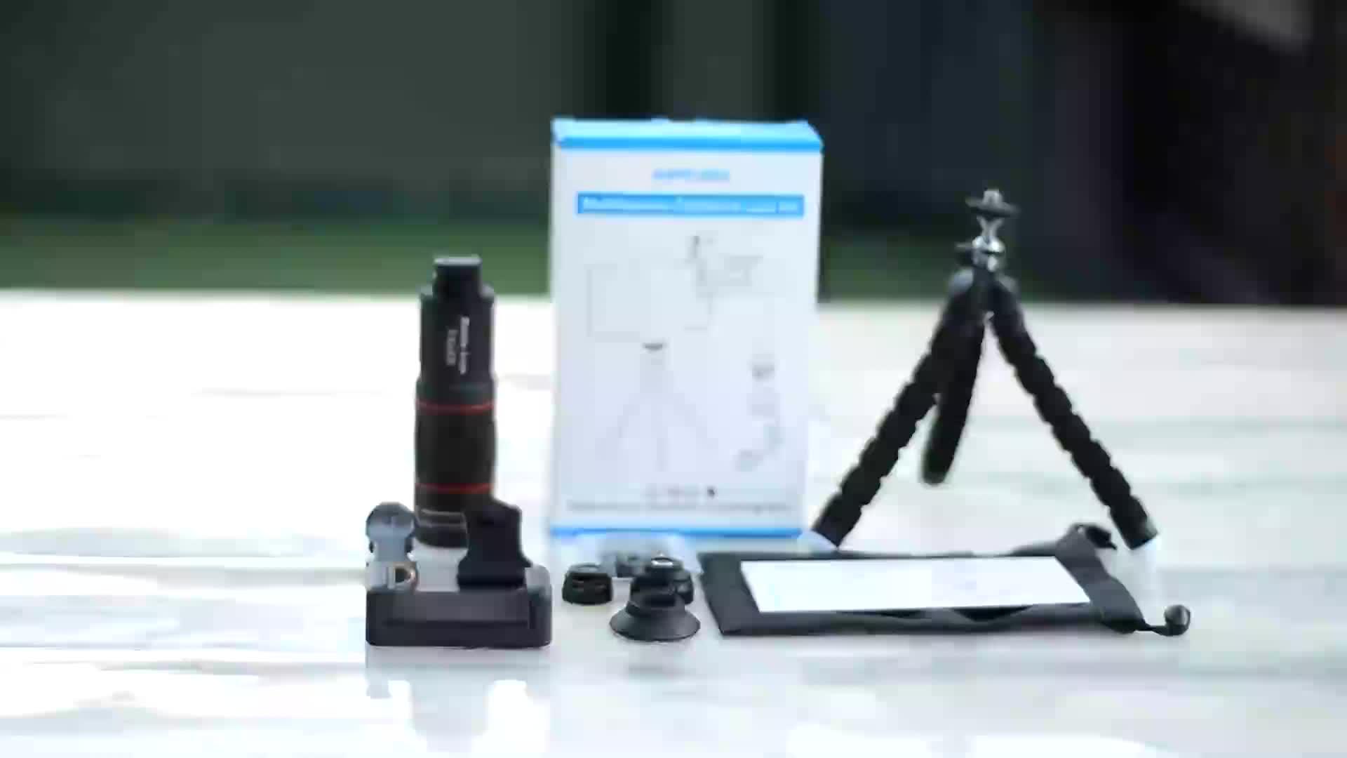 Apexel hd monocular telescope lens mobile phone telephoto zoom