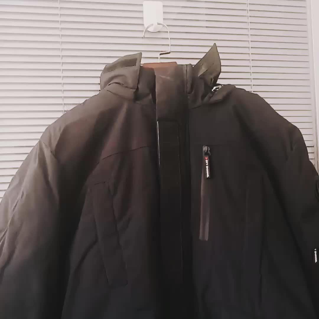 2019 ฤดูหนาวผู้ชายยาว hooded Coat ผ้าฝ้าย thicken windproof wadded JACKET