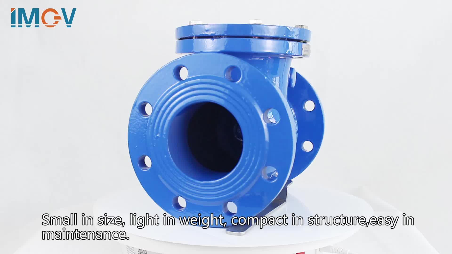 """dn50-dn400 pn16 Ductile Iron  one way 1/2"""" valve for water 4 inch swing check valve for sea water"""