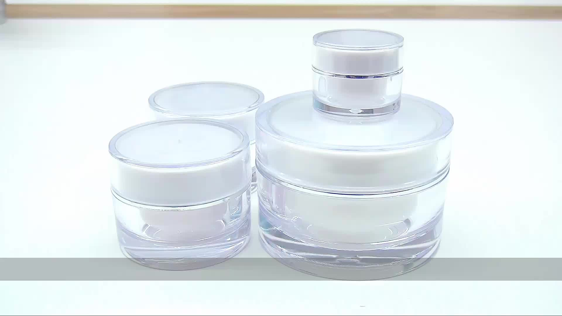 Wholesale  5ml 10ml 15ml 20ml  30ml 50ml round acrylic cream  jar for  cosmetic packing