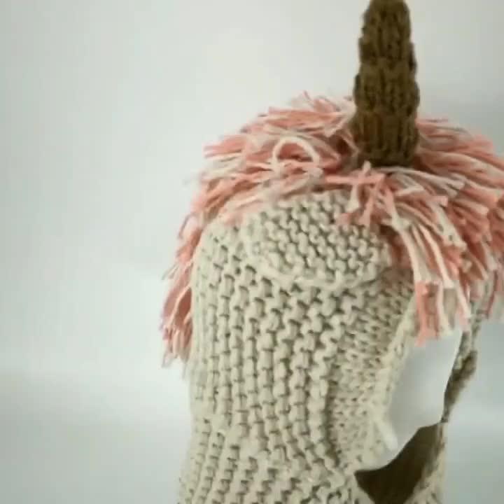 ユニコーン帽子ピンク緑色パターン衣装かわいいベビー