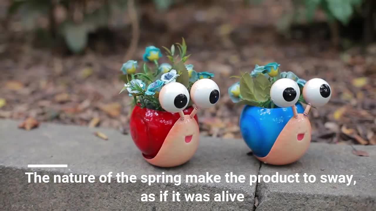 Vuelos de hierro decoración del jardín en forma de flor de primavera ollas