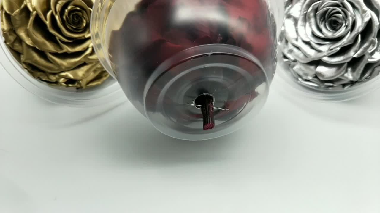 Culinan Custom Luxe Geschenkverpakkingen 9-10Cm Bewaard Hoed Rose 24 K Gold Regeling Eeuwige Altijd Bewaard Rozen hoofd
