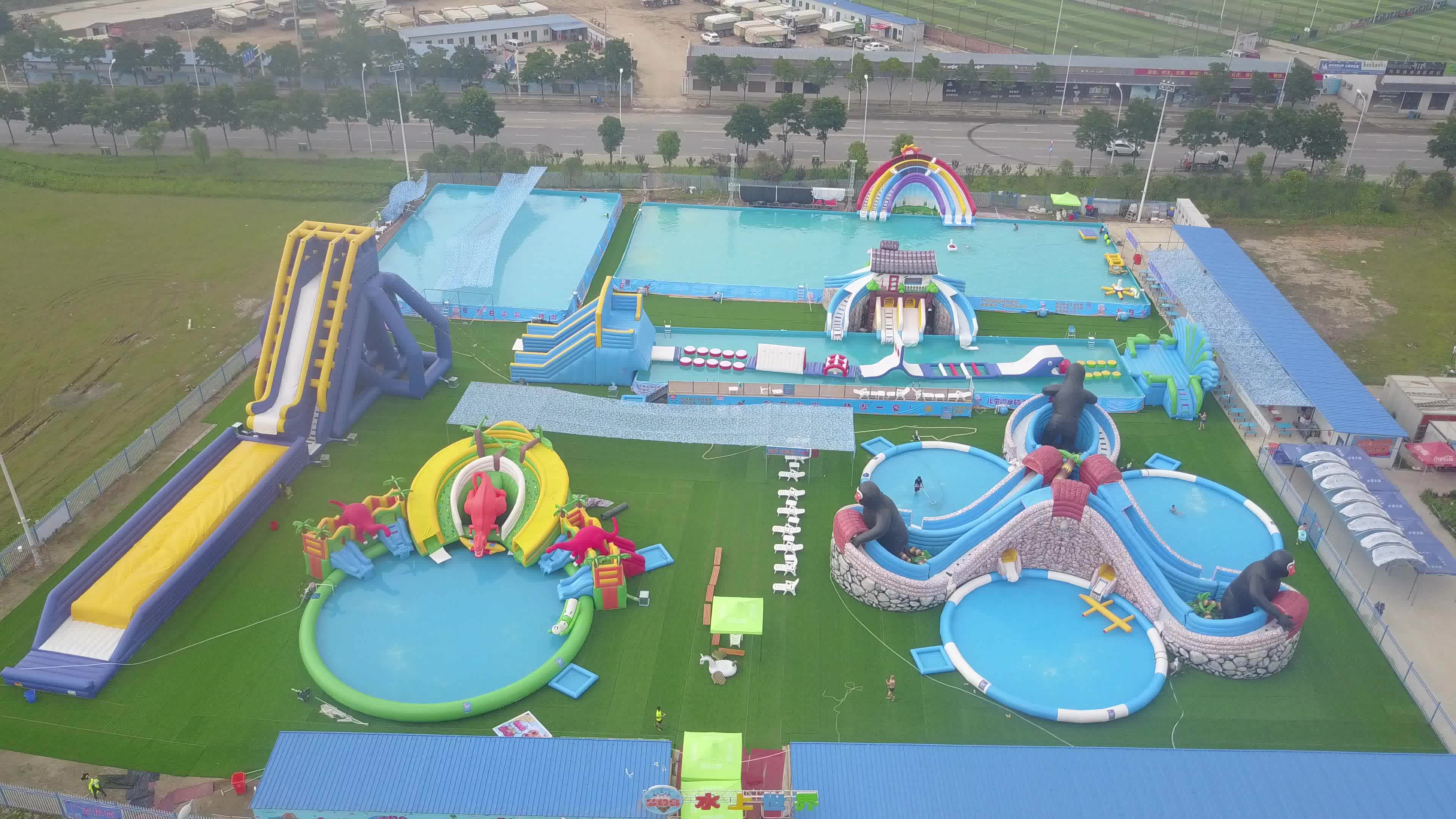 Summer Cheap Large Commercial Adult Entertainment Big Inflatable Playground Amusement Aqua Fun Water Park Kids With Pool