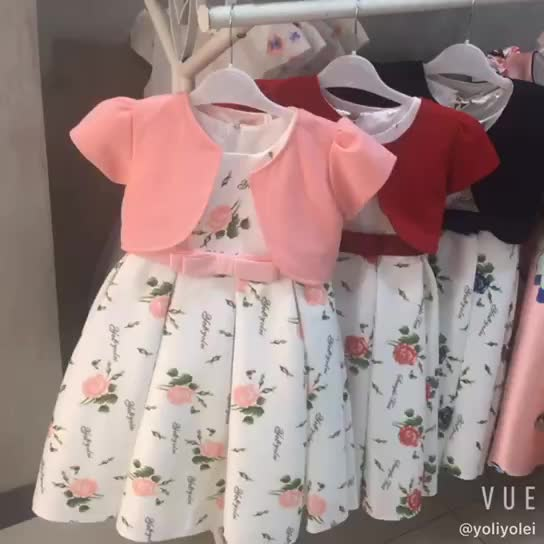 2020 Sleeveless Child Kid Wear Clothing Girl Party Dress Design
