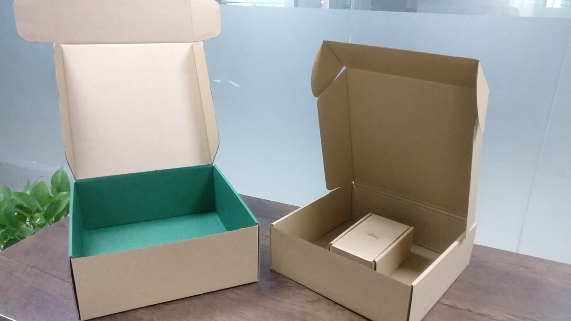 B fluted corrugated front tuck cardboard mailers hard large brown kraft shipping packaging box with dust flaps
