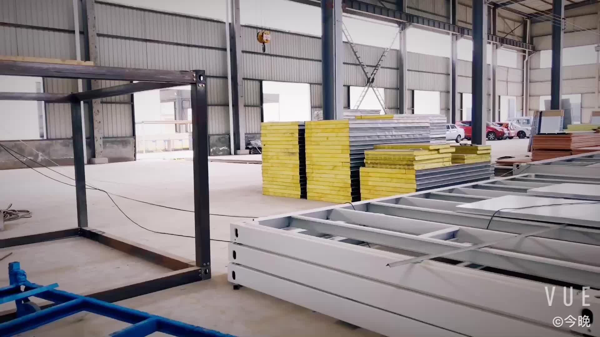 स्वीडन modularization कंटेनर घर जंगम पूर्वनिर्मित बिक्री के लिए फ्लैट पैक हाउस 20ft