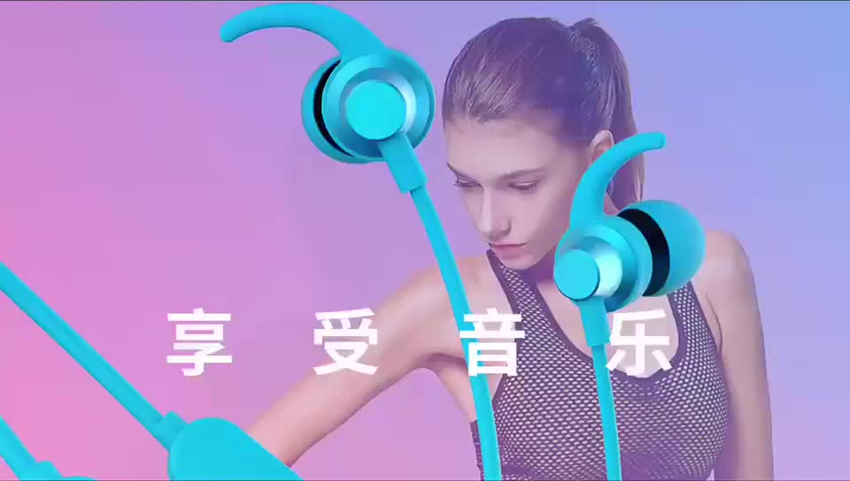 Magnetic Bluetooth Wireless Heapdhones Neckband Earbuds for Gym Running Workout Noise Cancelling Headsets Cordless headphone
