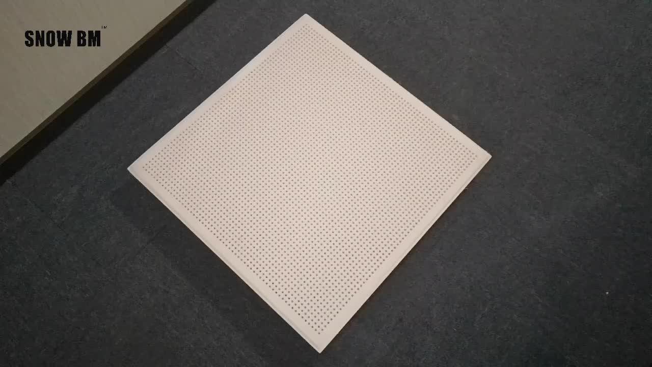 สไตล์รังผึ้งการออกแบบ perforated ไฟเบอร์กลาสอะคูสติกแผงฉนวนกันความร้อนเสียงดีประสิทธิภาพ