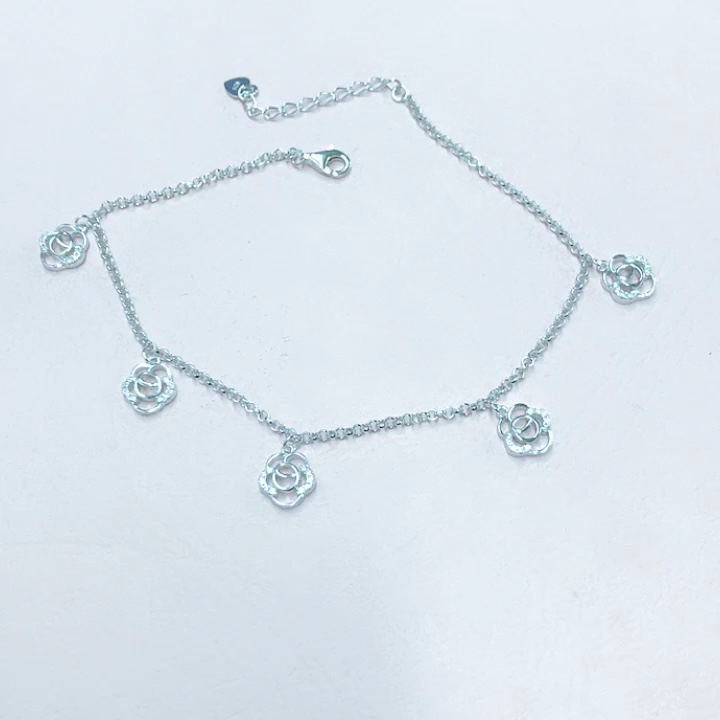 Wholesale Feet Jewelry Custom 925 Sterling Silver Anklet