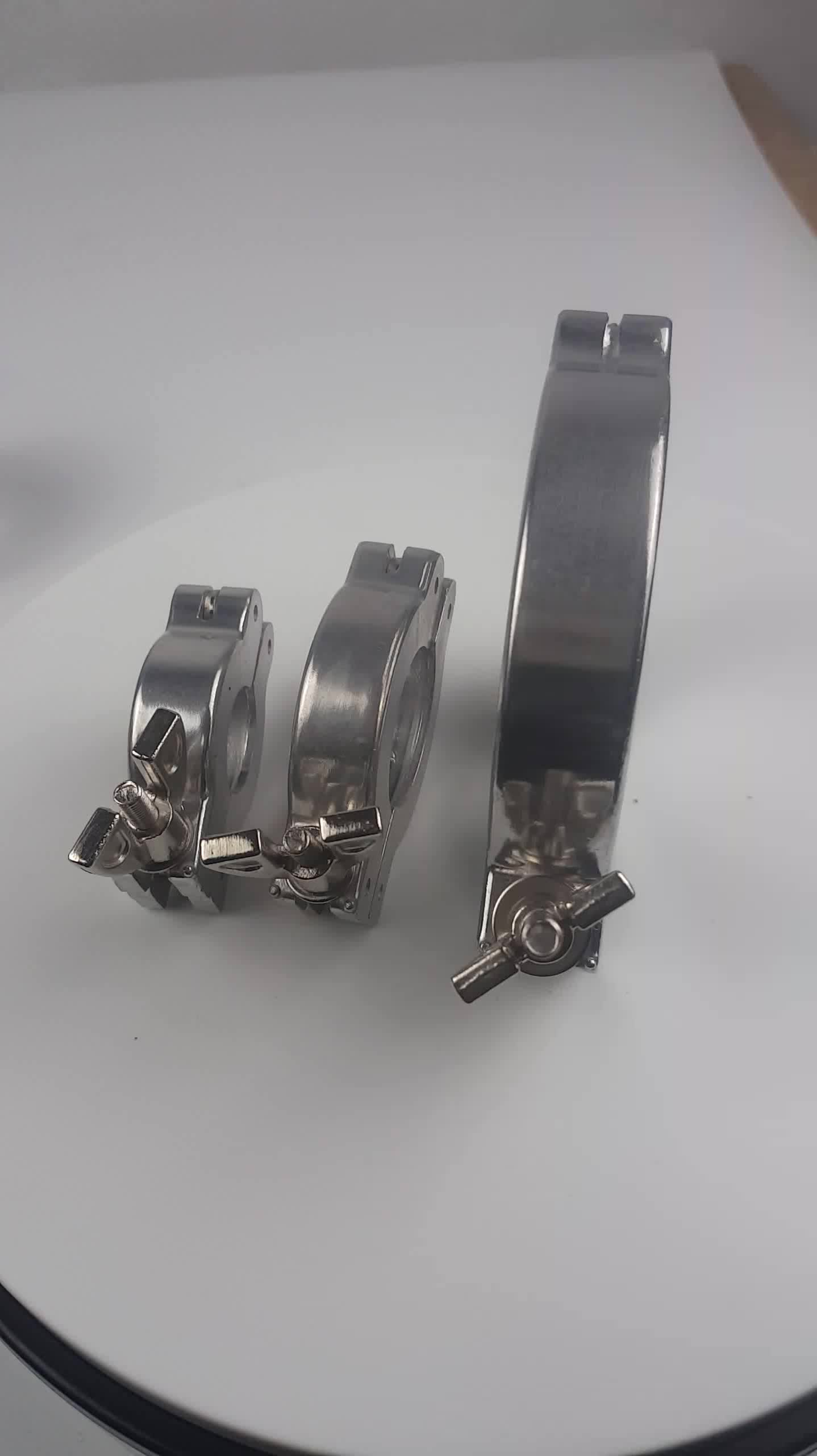 stainless steel vacuum chain kf clamp for vacuum quick fittings kf63 kf80 kf100 kf160