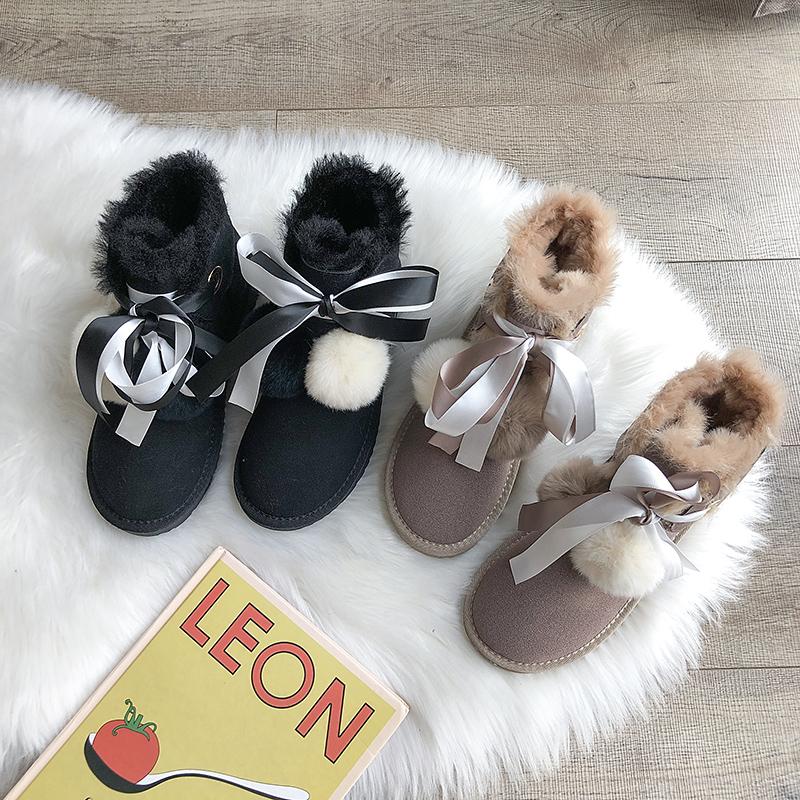Снег сапоги женщина зима 2019 новый корейский джокер ботинки плюс бархат обувь сгущаться ботинки теплые хлопок обувной 605405060382