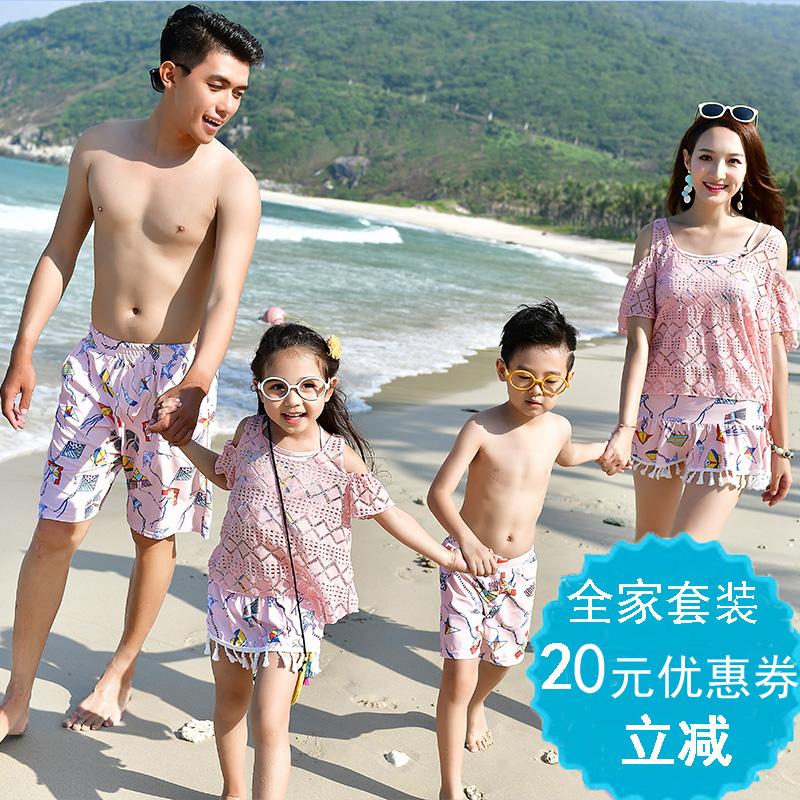 Спа новый плавать женская одежда трещина семья детской одежды купальный костюм семья из троих кружево страхование охрана плавание наряд мать и дочь