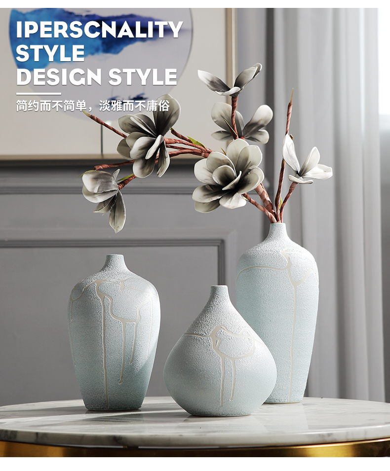 Jingdezhen ceramic wine table decorations furnishing articles household act the role ofing is tasted, the sitting room porch vases, flower arranging dried flower decoration
