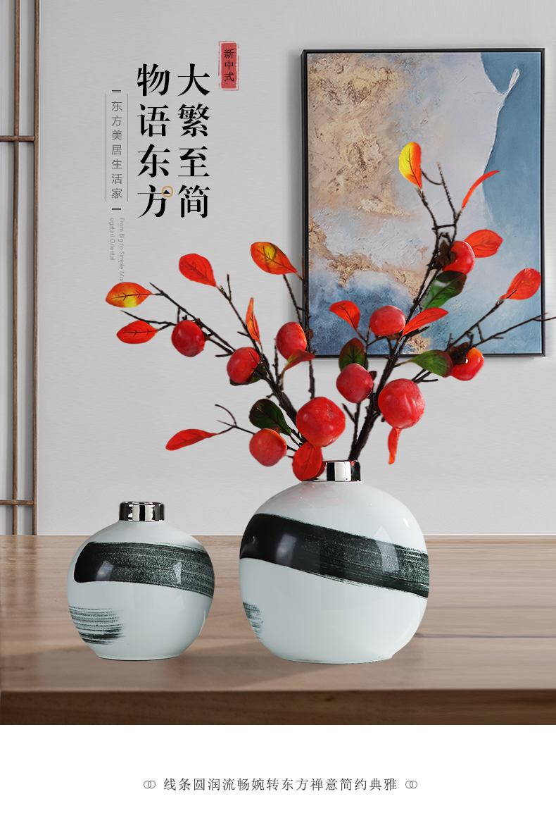 Chinese style light key-2 luxury television creative furnishing articles contracted sitting room porch restaurant wine home decoration ceramic arts and crafts