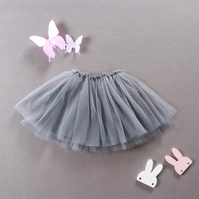 Корейский марля юбка серый