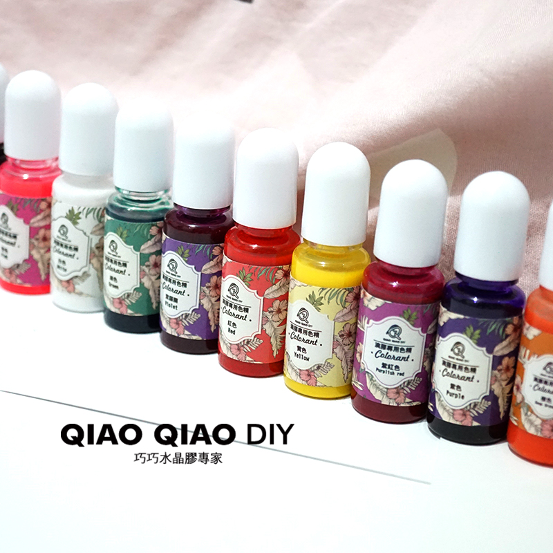 Qiaoqiao home diy Epoxy color oil paint coloring with UV glue hand ...