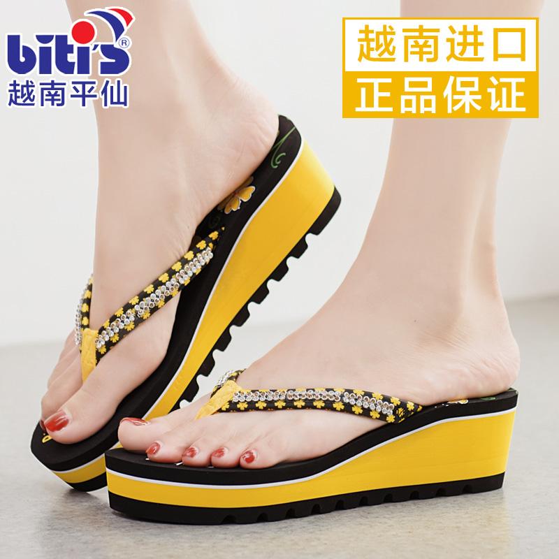 越南平鞋子字拖百搭韩版坡跟时尚夏2019新款外穿拖鞋凉拖女仙人