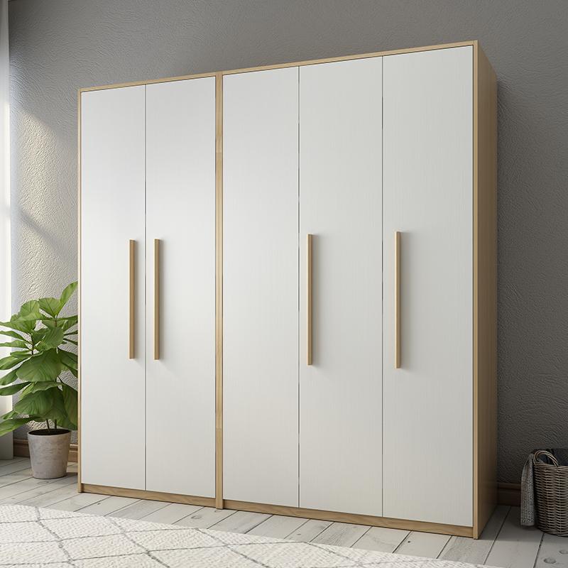 Tủ quần áo Bắc Âu đơn giản hiện đại căn hộ nhỏ lắp ráp tủ quần áo kinh tế ba bốn năm cửa kết hợp tủ phòng ngủ - Buồng