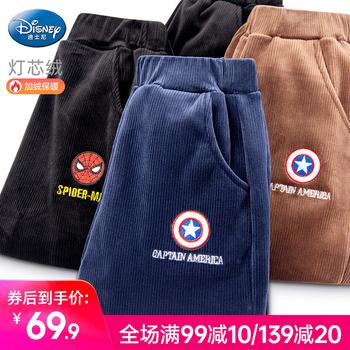 Disney мальчиков утолщённый с дополнительным слоем пуха брюки зимой ребенок брюки верхняя одежда человек спортивные брюки вельвет мужчина, цена 1002 руб