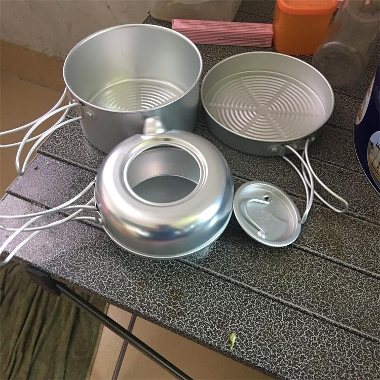 Сверхлегкий ! CA98017 мини 3 наборы на открытом воздухе посуда свет количество один чайник ( содержит чай горшок небольшой сковорода )