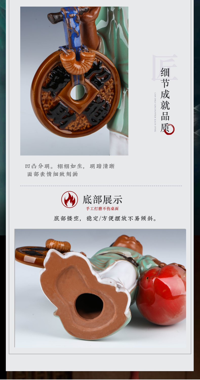 Jingdezhen ceramics hand - carved characters creative furnishing articles of Chinese style living room home wine TV ark, adornment