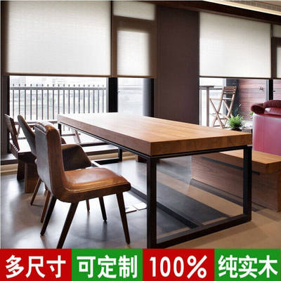 Solid Wood Slab Table Conference Table And Chair Combination Simple - Wood slab conference table