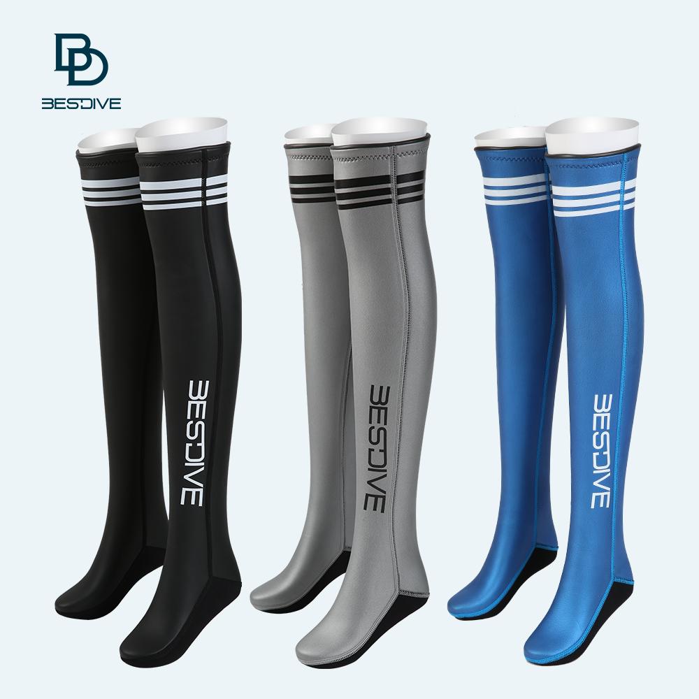 43986580b BESTDIVE 潜 2-3mm long diving socks over knee socks free diving stockings  neoprene