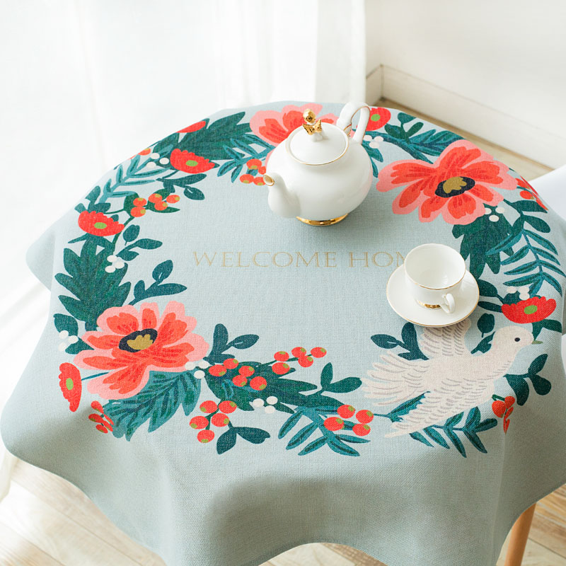 Literary Cotton Table Tablecloth Hand Painted Rural Cloth Art Small Round  Table With Square Tablecloth Coffee Table Cloth Tablecloths Cover Cloth