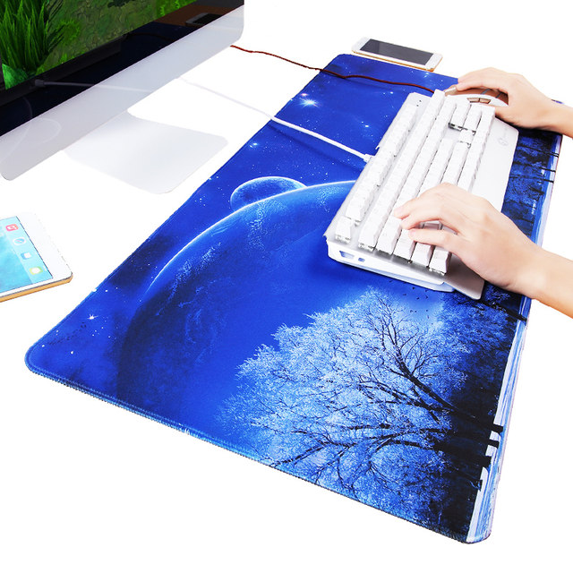 Game super large mouse pad female lock cute girl anime trumpet thick laptop desk pad