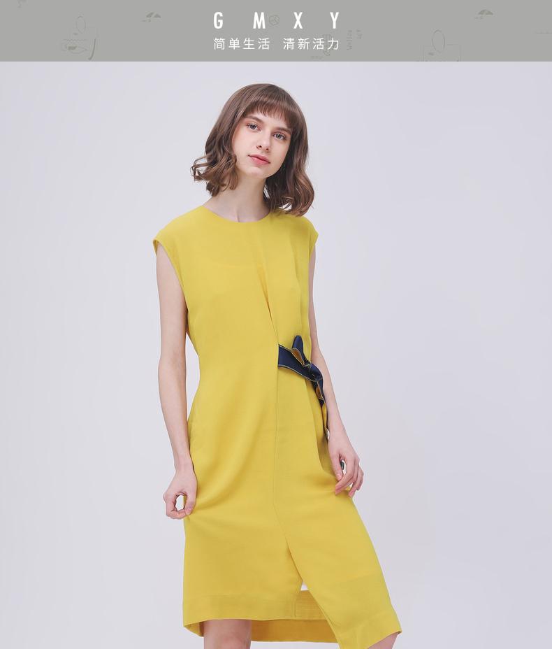 Gỗ cổ buổi tối cừu GMXY2018 mùa hè của phụ nữ mới eo điều chỉnh cấu trúc váy váy Mỏng phụ nữ new