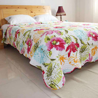 Country life quilted quilt, bed sheet, bed cover, mattress, single piece quilted quilt, sofa, multi-purpose bedding