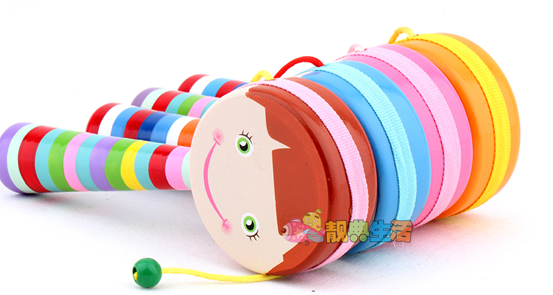 Musical Toys For 1 Year Olds : Usd 7.79] pretty code children rattle polyester drum bark wooden