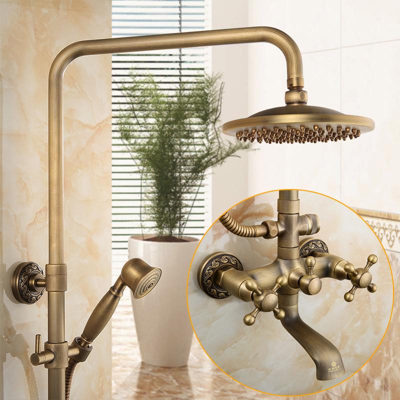 USD 281.50] Queen family all copper antique showers European retro ...