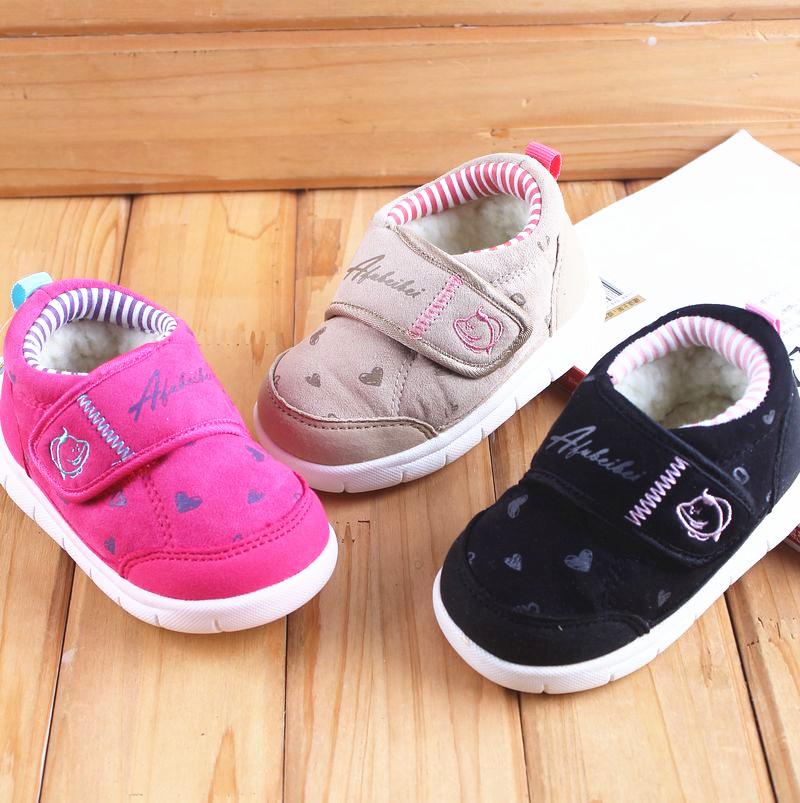 阿福贝贝童鞋男童女童冬款宝宝鞋子加绒1-3岁学步鞋软底婴儿棉鞋