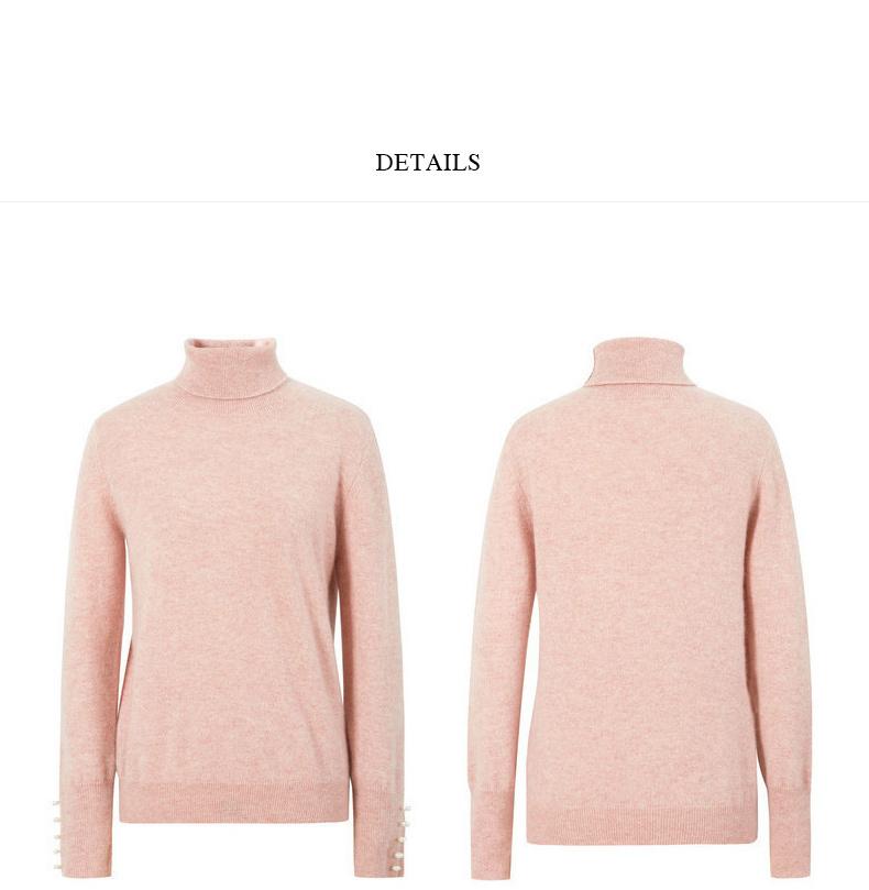 伊芙丽2018冬装新款针织衫温暖柔软细腻长袖套头毛衣羊绒衫女 14