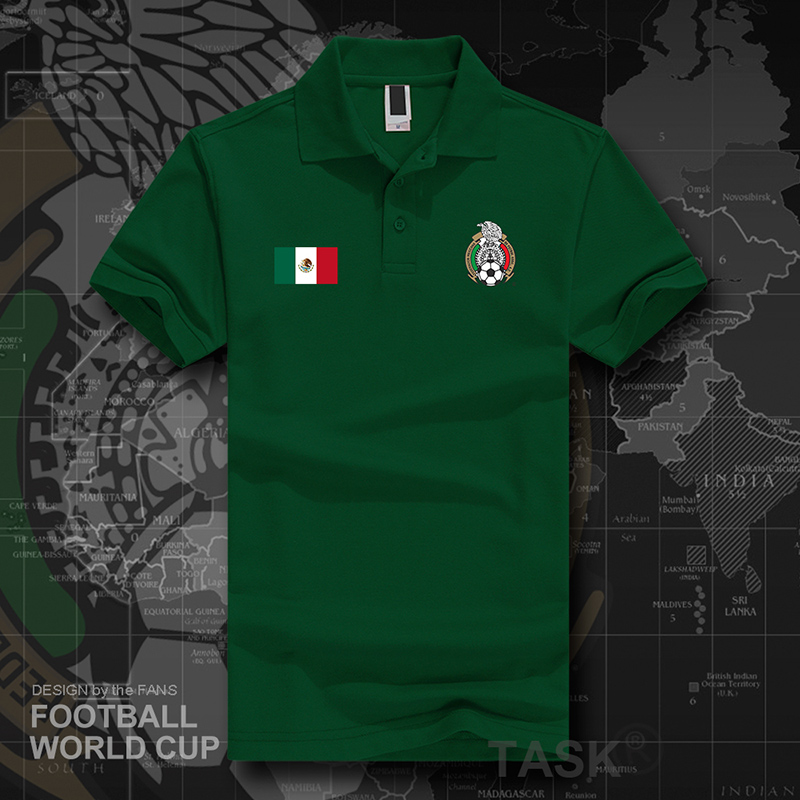Mexico Mexico men's lapel Polo shirt football team national team  short-sleeved T-shirt Paul shirt summer