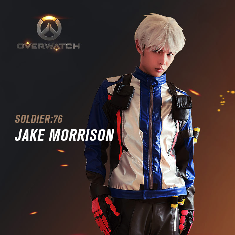 usd 24 13 overwatch game clothes jack morrison skin coat no 76