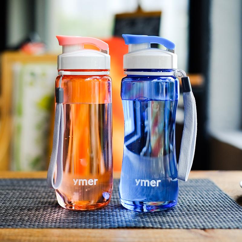 Детские Спортивный фитнес портативный пластиковый женский корейская версия Бутылка воды новый простой корейский Смазливая чаша