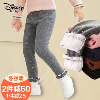 Disney девочки лосины на пуху осень и зима верхняя одежда западный стиль тонкий кашемир дети ребенок ребенок установлены утолщённый брюки сын, цена 1218 руб